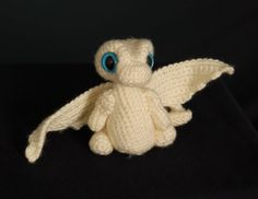White Baby Snow Dragon by TheTwistsNTurns on Etsy etsy.com/shop/TheTwistsNTurns $20