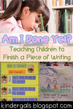 Tips and tricks for teaching students to finish a piece of writing.