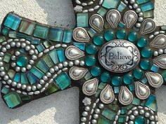 Believe - Mosaic Cross via Etsy