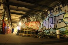 """91st Street - You can see the station while riding the 1 train (and the 2/3 if no other trains are in the way) between 86th and 96th Streets. But even as far back as 1999, the New York Times reported that """"the walls are begrimed with thick 1970's-style graffiti."""""""