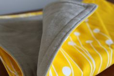 Modern Baby Floor Playmat Yellow Flower by PeppermintPinwheels