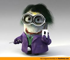 Minion como Joker de Batman.
