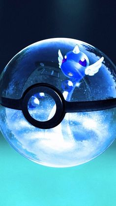 Dragonair in pokeball. Tap to see more cute Pokemons in Glossy Pokeball! - @mobile9