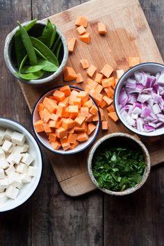 Sweet Potato + Kale Green Curry with Tofu