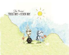 Toxic Boy & Stain Boy by Tim Burton