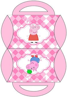 Peppa Pig and Family: Free Printable Pillow Box. Throw some sort of birthday party that's Peppa Pig Printables, George Pig Party, Peppa Pig Party Supplies, Pig Png, Aniversario Peppa Pig, Cumple Peppa Pig, Pig Birthday Cakes, Birthday Bash, Pig Crafts