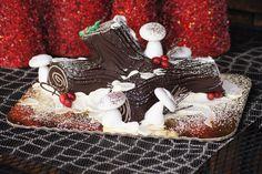 Yule Log/Buche de Noel cake