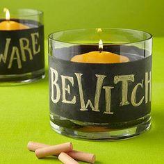 DIY Halloween : DIY Chalkboard candleholders
