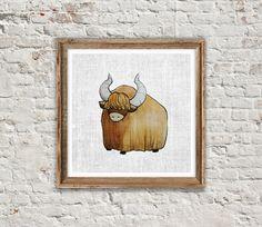 ANIMAL PRINT: YAK Yak Print Yak Art Woodland by SITMPrintables