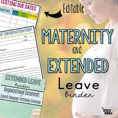 Expecting a bundle of joy?! Maybe your going to be away for a while? Now you can set up your sub and students for success! This EDITABLE binder contains the components you need to leave your students with peace of mind and enjoy your time away. *This is a zip file with an editable powerpoint inclu...