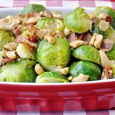 Bacon and Cashew Brussel Sprouts - This one will get them eating those dreaded brussel sprouts; just don't overcook them, that's when they get bitter.