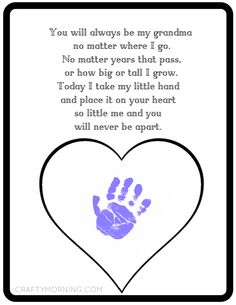 Never Be Apart Grandma Poem Printable - Crafty Morning More