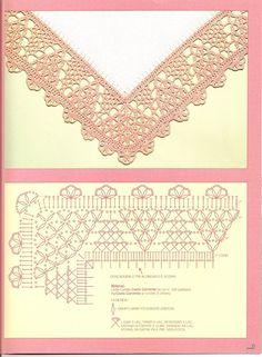 crochet - bicos/barrados com cantos - corners 1 - Raissa Tavares - Álbumes web de Picasa