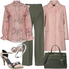Rosa e verde  outfit donna Bon Ton per serata fuori  8be1fd3fb54