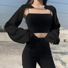 Bad Girl Outfits, Hot Outfits, Edgy Outfits, Korean Outfits, Cute Casual Outfits, Pretty Outfits, Korean Girl Fashion, Korean Street Fashion, Ulzzang Fashion
