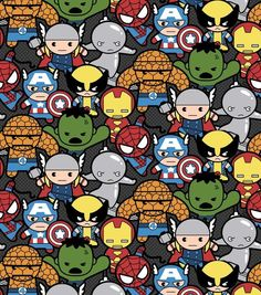 Marvel Kawaii Cotton Fabric