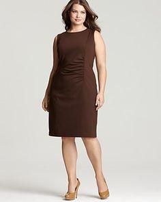 Jones New York Collection Plus Size Shirred Sheath