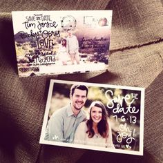 save the date postcards by laurenish design
