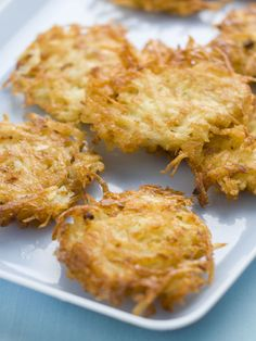 Quick and Easy Potato Latke:  http://www.hgtv.com/holidays-and-entertaining/celebrating-hanukkah-easy-and-stylish-jewish-holiday-ideas/pictures/page-6.html?soc=pinterest