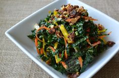Make this Crunchy Kale Salad recipe to add more veggie punch to your meals! It's Paleo and Whole30 friendly, grain- and gluten-free!