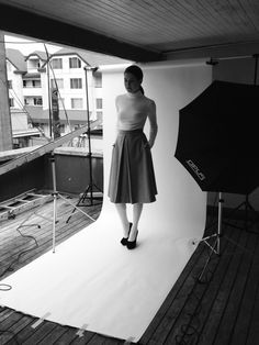 The manoush skirt in grey wool from AW13 collection