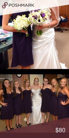 Bridesmaids dress Deep plum bridesmaids dress. Worn once, price negotiable {{make an offer}} Dresses Strapless