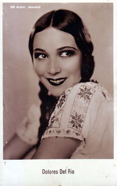 Dolores Del Rio, silent and sound movie star, later Mexican film star  1904-83