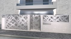 ENTRANCE GATE - ΑΥΛΟΠΟΡΤΑ Metalaxi Entrace gate made of perforated aluminium with a unique pattern. Life is in the details. Metalaxi Innovative Architectural Products. www.metalaxi.com Entrance Gates, Fences, Innovation, Doors, Architecture, Unique, Pattern, Life, Products