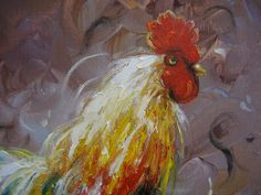 Rooster Oil Painting Vickie Wade art rooster от VickieWadeFineArt