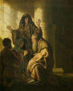 Rembrandt van Rijn - De profetie van Simeon aan Maria
