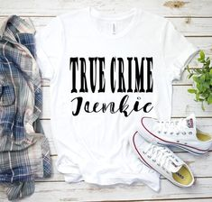 Check out our true crime selection for the very best in unique or custom, handmade pieces from our shops. Love Shirt, T Shirt Diy, True Crime, Collar Designs, Shirt Designs, Stylish Outfits, Cute Outfits, Stylish Clothes, Silhouette Studio Designer Edition