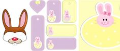Free Easter gift tags and bunny mask to download and print
