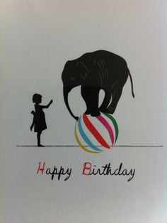 birthday circus card available at darling clementine