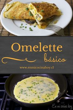 A simple omelette recipe, with all the details to achieve an excellent result. Source by enmicocinahoy Breakfast Recipes, Snack Recipes, Healthy Recipes, Tater Tot Recipes, Chilean Recipes, Chilean Food, Tapas, Sauces, Omelette Recipe