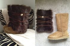 How to make make fur UGG covers.  So easy!this will come in handy for my costume next year