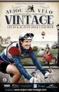 affiche : Anjou vélo vintage 2012. bicyclette.