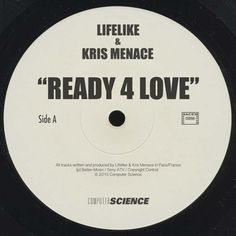 LIFELIKE & KRIS MENACE - Ready 4 Love