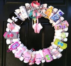 wreath for baby shower