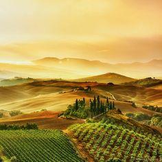 Podere belvedere........by Arnaud Bratkovic #Tuscany