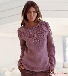 Пуловеры с круглой кокеткой (спицами) - Вязание - Страна Мам