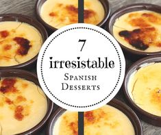 From creamy custards to flaky pastries, Spanish desserts are downright delicious! Here are 7 of our favorite Spanish sweets (with recipes! Desserts Espagnols, Beaux Desserts, Delicious Desserts, Dessert Recipes, Plated Desserts, Spanish Dinner, Spanish Tapas, Spanish Food, Spanish Recipes