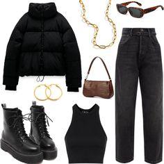 Style Outfits, Kpop Fashion Outfits, Tomboy Fashion, Edgy Outfits, Mode Outfits, Retro Outfits, Cute Casual Outfits, Look Fashion, Streetwear Fashion