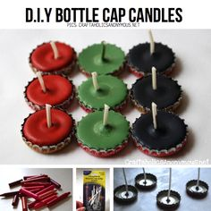 DIY bottle cap candles