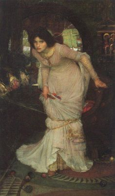 The Lady of Shalott  Date: 1894Medium: Oil on canvasSize: 142 x 86 cmLocation: City Art Gallery, Leeds, UK
