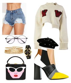 """""""Clueless Fenty Warhol"""" by unikornandco on Polyvore featuring Pollini, Off-White, Steve Madden, Gucci and Treasure & Bond"""