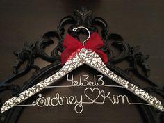 Damask Bride Hanger Damask Wedding Bridal Hanger by GetHungUp, $39.00