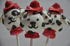dalmation cake pops