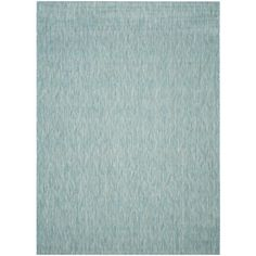 Courtyard Aqua (Blue) 8 ft. x 11 ft. Indoor/Outdoor Area Rug