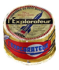 Love the packaging-- this cheese was originally created to commemorate the first US satellite launch.