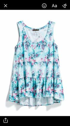 Pretty top!  I like blue with just a little pink!